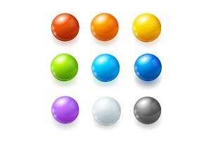 Rainbow Balls Set. Vector