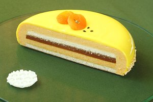 Honey, Sea-buckthorn Entremet Cake