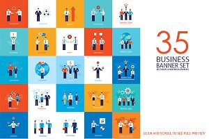 35 Successful Business banner set
