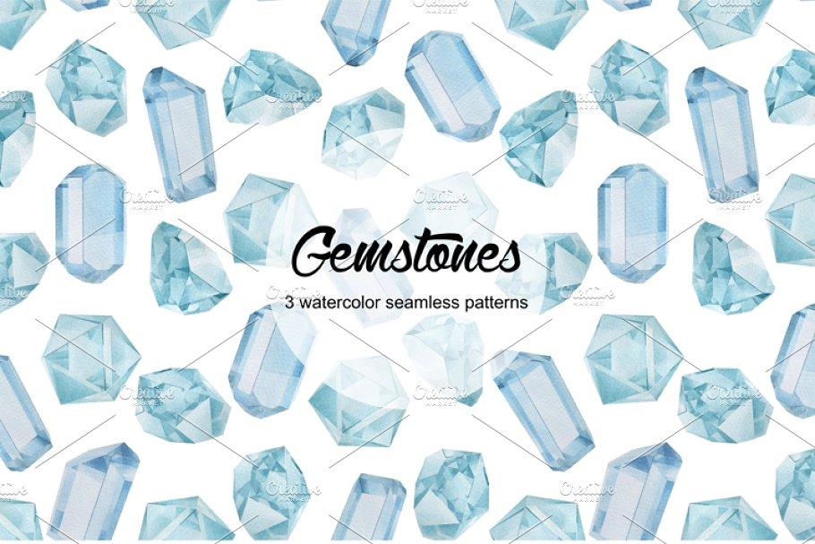 Gemstones seamless patterns in Patterns