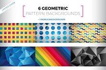 6+3 Geometric Pattern Backgrounds