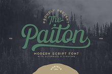 The Paiton -Modern Script Font by  in Fonts