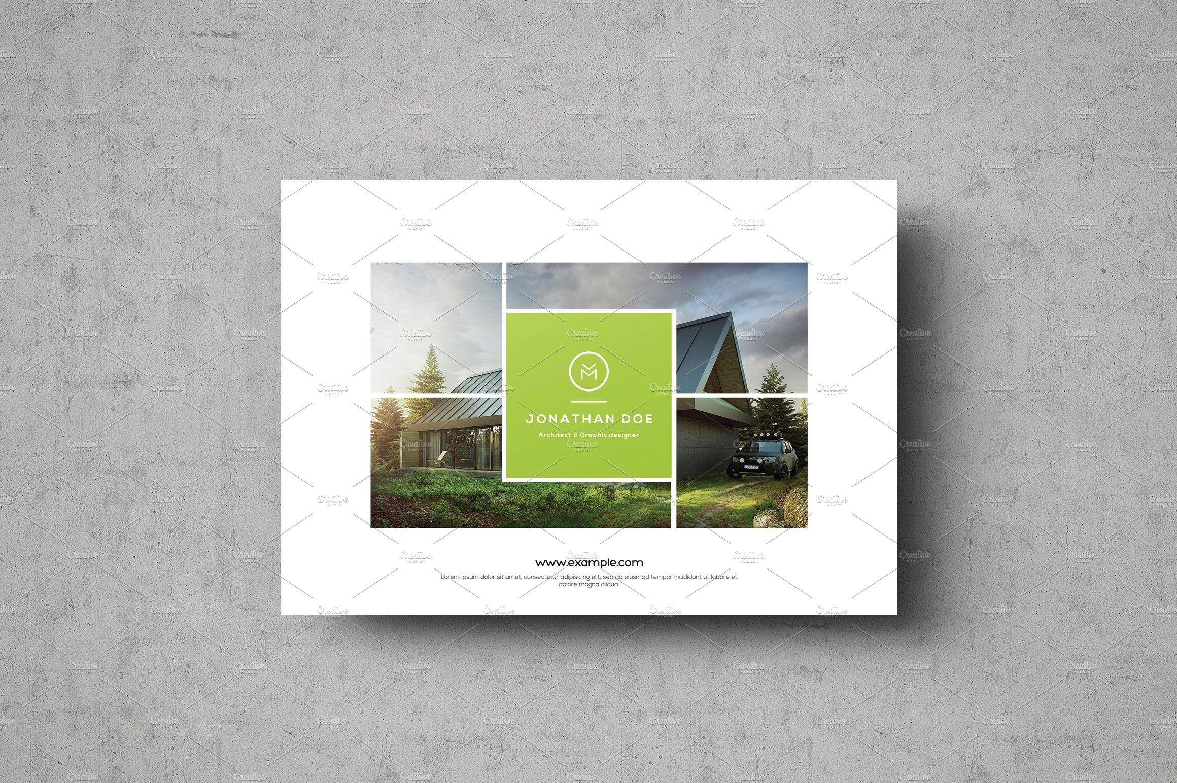 multipurpose landscape portfolio brochure templates creative market
