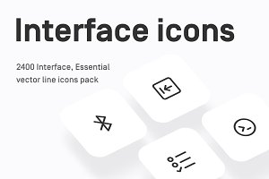 Interface, Essential, UI line icons