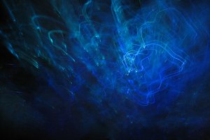 Deep blue sea forms (light art)