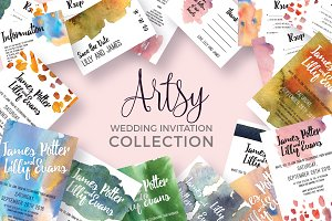 Artsy Wedding Invitation Collection