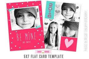 Valentine 5x7 Card Template BEM16