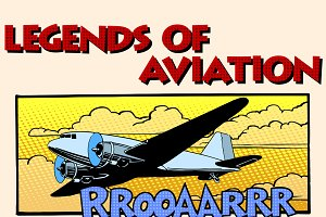 Legends of aviation retro airplane