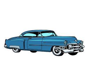 Retro blue car classic