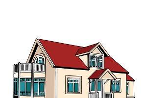 Suburban two-storey house