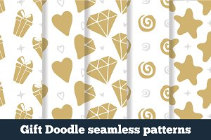 Gift Doodle seamless patterns