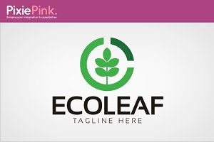 Eco Leaf Logo Template
