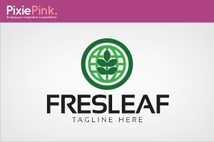 Fresh Leaf Logo Template