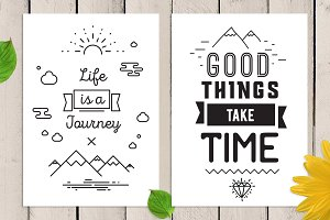 2 cards with inspirational quotes