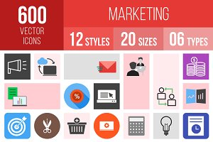 600 Marketing Icons