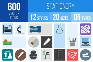 600 Stationery Icons