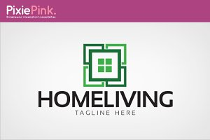 Home Living Logo Template