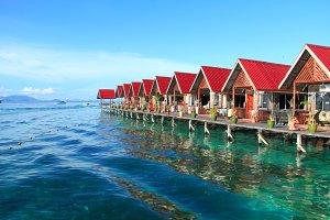 Scuba diving paradise, Mabul Borneo