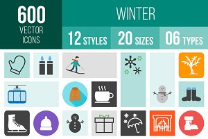 600 Winter Icons