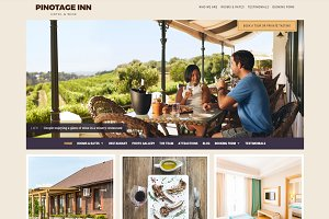 Pinotage Hotel WordPress Theme