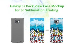 Galaxy S2 3d Case Back Mockup