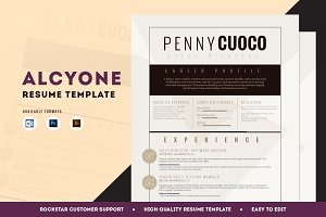 Resume Template Alcyone