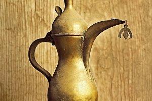vintage bronze teapot