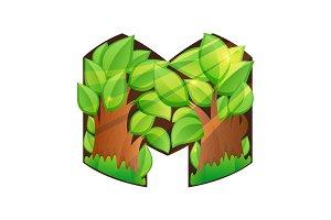 M letter volume logo