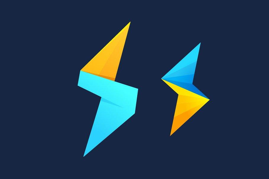 Lightning and S letter logo