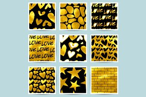 Seamless patterns of Golden elements