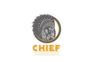 Chief Native American Society Logo