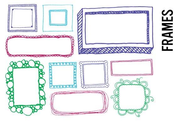 Doodle Frames Clip Art Illustrations Creative Market
