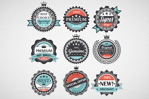 Set of premium quality badges