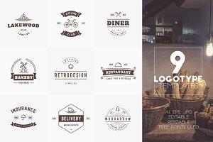 Set of 9 Logotype Templates