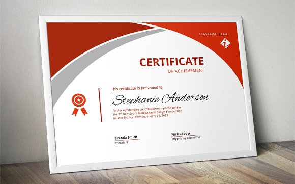 Modern corporate Word certificate Stationery Templates – Certificate Word