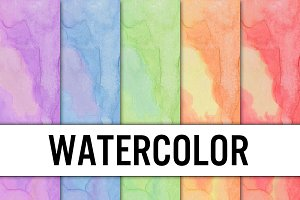 Watercolor Digital Paper - 5 pack