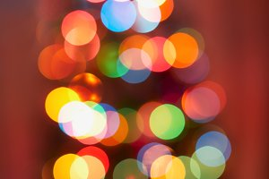 Christmas tree, blur