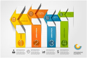 Modern Arrow Infographics Template.