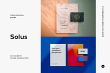 Solus Shadow Stationery Mockups by  in Mockups