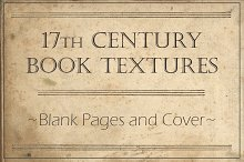 17th Century Book Blank Pages &Cover
