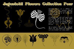 Jugendstil Flowers Collection Four