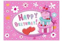 "Greeting card ""Happy Birthday"""