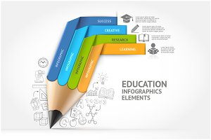 Education Pencil Infographics