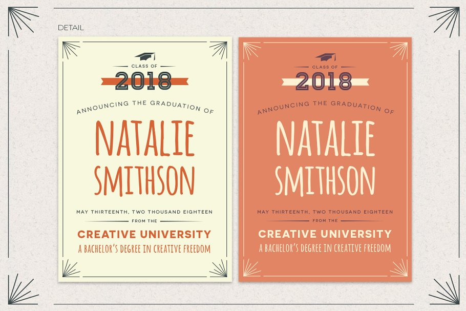 Graduation announcement template invitation templates creative next stopboris Choice Image