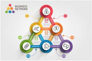 Business Marketing Infographic.