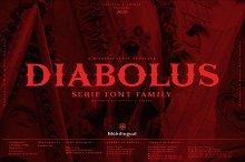Diabolus - Serif Font Family by  in Fonts
