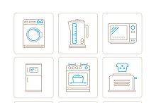 Household appliances iconset