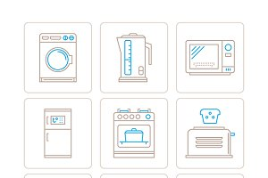 Household appliances iconset