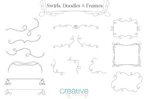Swirls, Doodles & Frames - PNG Pack