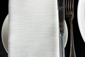 Napkin and silverware